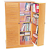 CD / DVD / Blu-ray Multimedia Storage Cabinet - BEECH