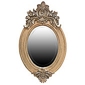 Alterton Furniture French Style Oval Mirror - Antique Beige and Silver