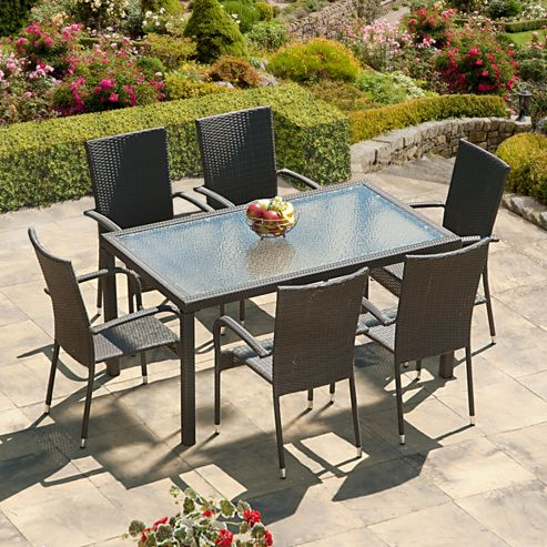 Buy SunTime Lincoln Grey Rattan Garden Dining Set From Our Garden Furnit