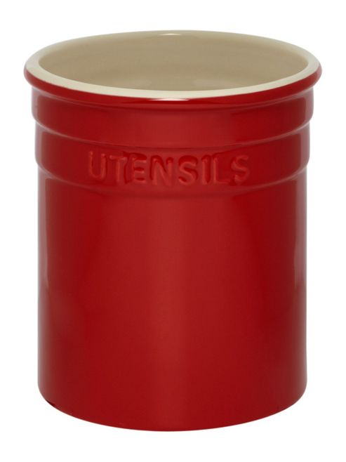 Linea Maison Utensil Pot In Red New