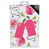 Pink & Black Watercolour Flower 2 sheet 2 Tag