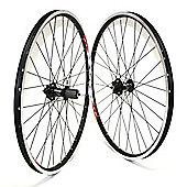 SRAM 506 Race MTB Front Wheel (6-Bolt Disc 32H 9mm QR on Mach1 MX V Rim, DB S/S Spokes Black)