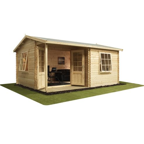 Buy home office executive double glazed wooden log cabin for Home office cabins