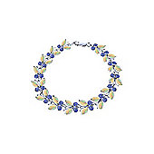 QP Jewellers 6in Tanzanite & Opal Butterfly Bracelet in 14K White Gold