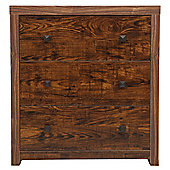Torino Mango Chest of Drawers, 3 Drawer
