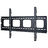 Black Universal Super Thin Fixed Wall Mount Bracket up to 70 inch