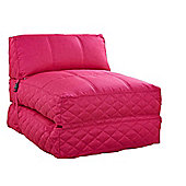Leader Lifestyle Big Chill 1 Seater Fold Out Chair Bed - Cheerful Pink Fabric