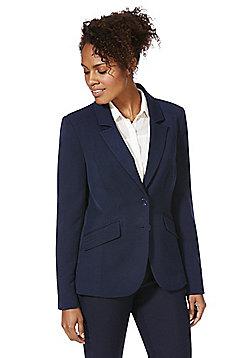 F&F Stitch Detail Suit Jacket - Navy