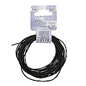 Leather Cord 1.5mm Round Black 5yds