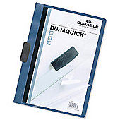 Durable Duraquick Clip Folder PVC Clear Front for 20 Sheets A4 Blue Ref 2270/06