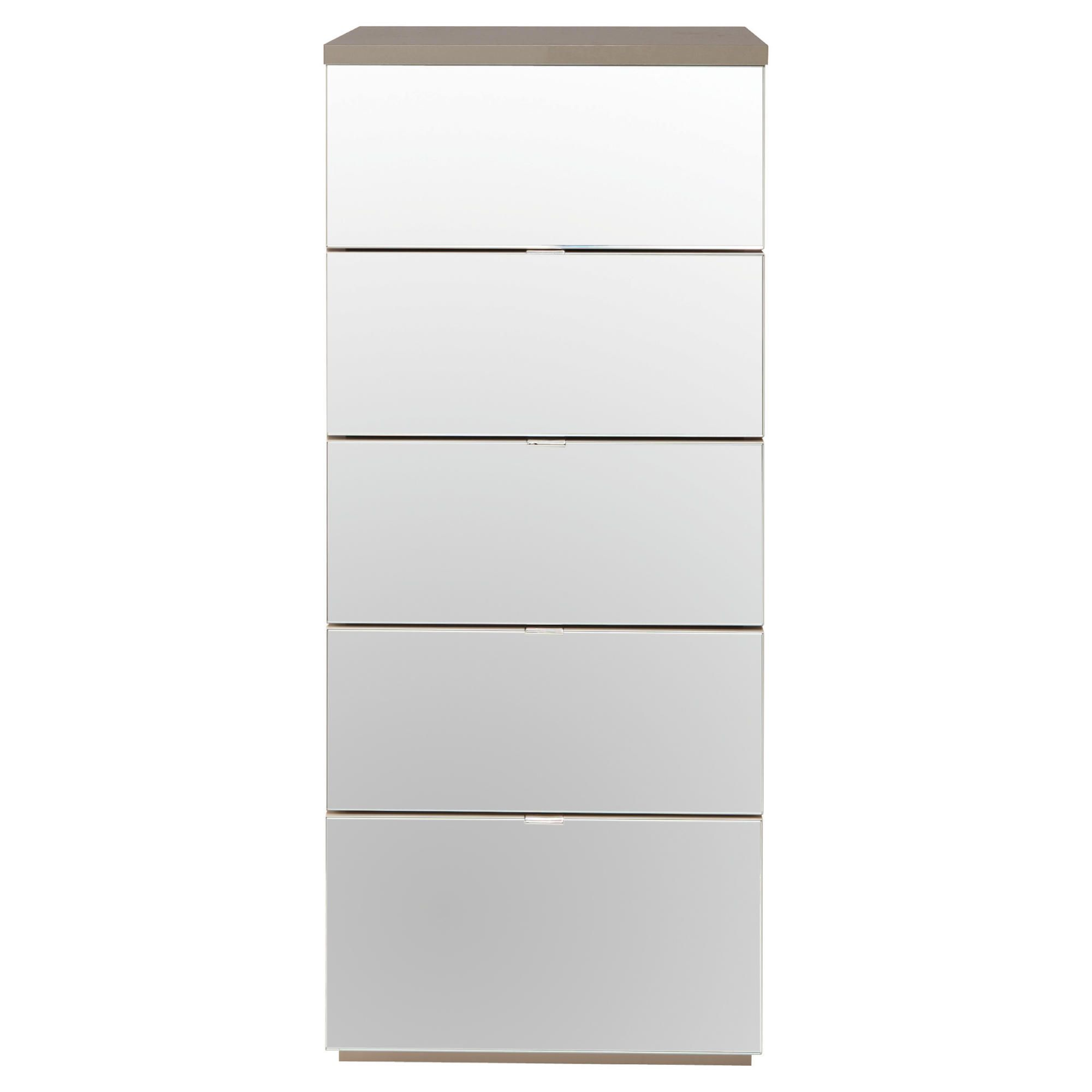 Palermo Tall Boy Chest Taupe Mirrored at Tesco Direct