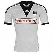 2013-14 Fulham Adidas Home Football Shirt - White