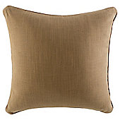 Contrast Piped Plain Cushion, Brown