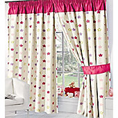 Pink Star Thermal Blackout Curtains 54s