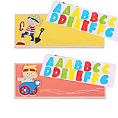 Bigjigs Toys Name Plaque (Pirate) (Pack of 2 - Orange and Yellow)