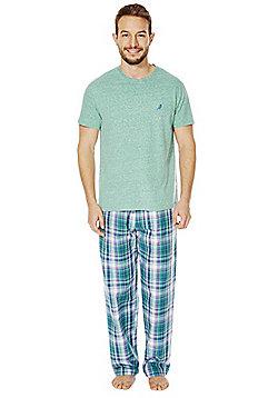 F&F Checked Bottoms Loungewear Set - Green