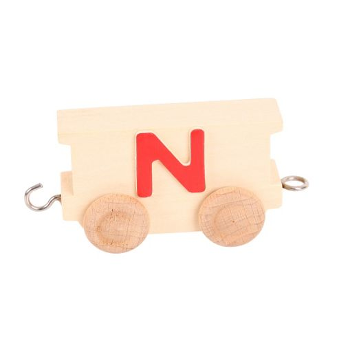 Bigjigs Toys BJ201N Name Train Letter N
