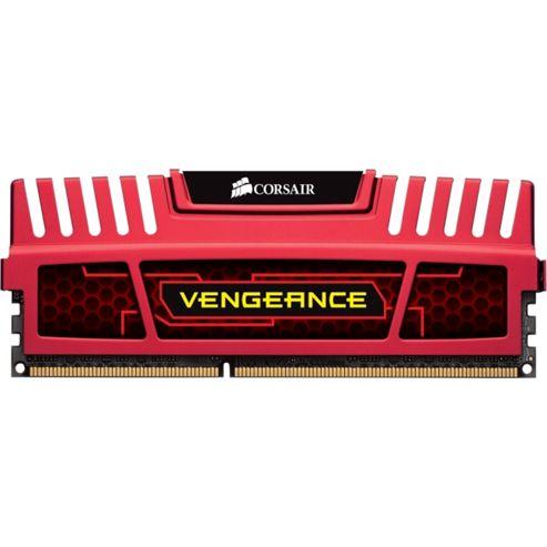 Corsair CMZ16GX3M4X2133C11R 16 GB 1866 MHz Vengeance DDR3 Quad Kit Memory Red