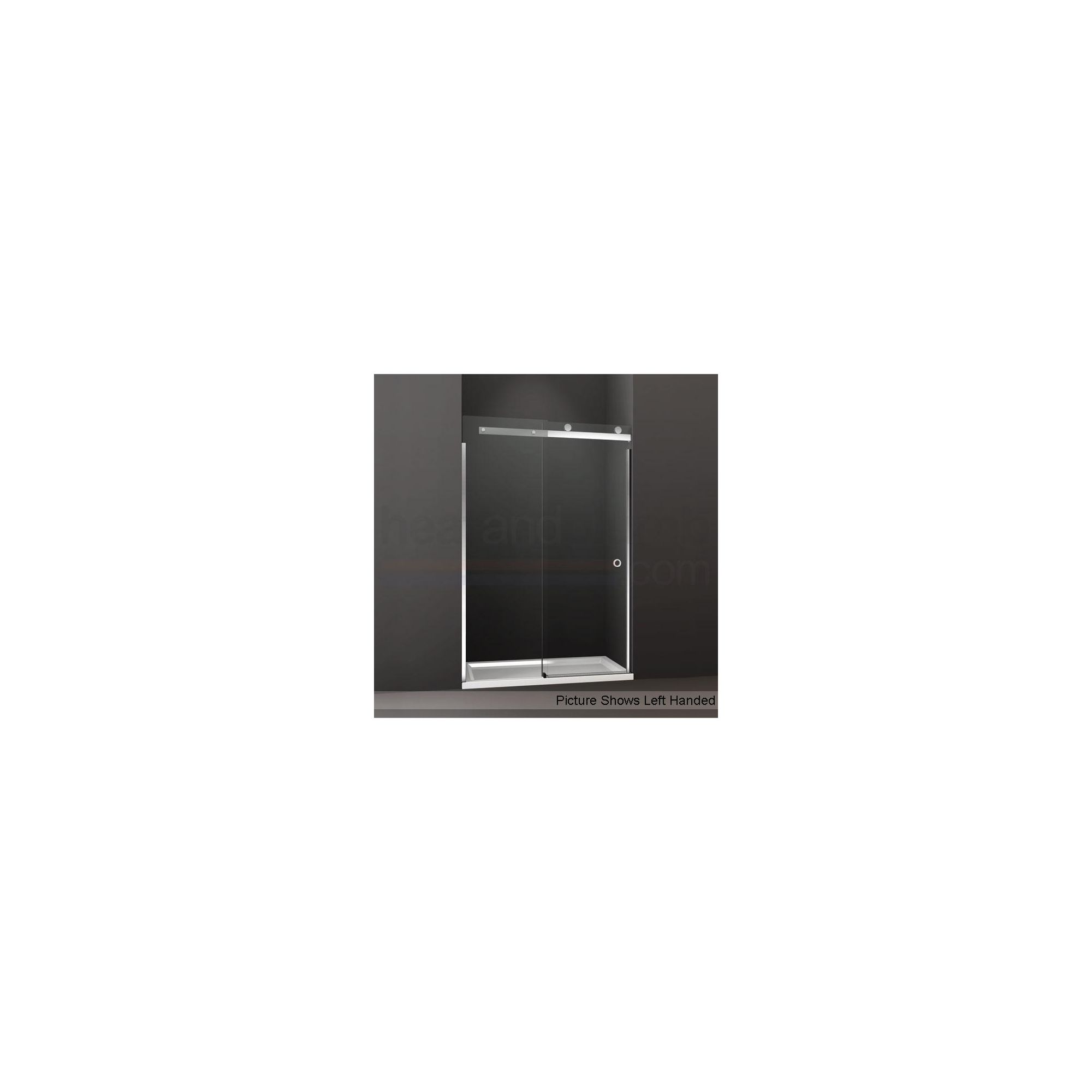 Merlyn Series 10 Sliding Door ALCOVE Shower Enclosure, 1100mm x 800mm, Low Profile Tray, 10mm Glass at Tesco Direct