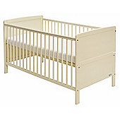 Baby Elegance Travis Cot Bed & Mattress - Cream