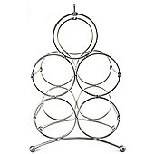 Sloane & Ebury Veneto 5 Bottle Wine Rack, Silver Finish