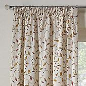 Rectella Leaf Trail Autumn Tapestry Look Pencil Pleat Curtains -112cm x183cm