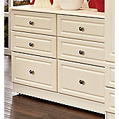 Welcome Furniture Pembroke 6 Drawer Midi Chest - Cream