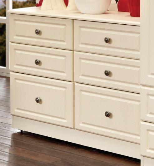 Welcome Furniture Pembroke 6 Drawer Midi Chest - Cream