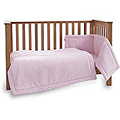 Clair de Lune 3pc Cot Bed Bedding Set (Marshmallow Pink)