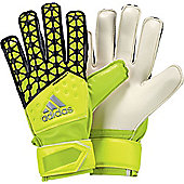 Adidas Ace Fingersave Junior Goalkeeper Gloves - Yellow
