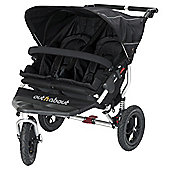 Out n About Nipper 360 Double Pushchair, Raven Black
