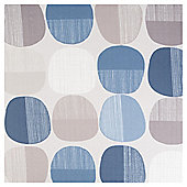 Pebble Print Eyelet Curtains - Blue