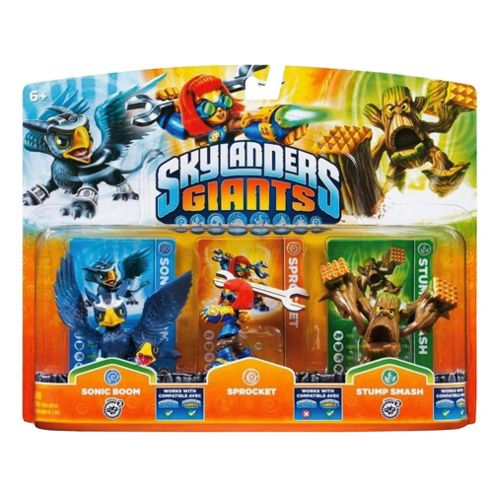 Skylanders Giants - Triple Character Pack - Spocket, Sonic Boom & Stump Smash