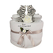 Twin Baby Nappy Cake Gift Hamper