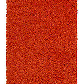 Think Rugs Vista Orange Shaggy Rug - 80 cm x 150 cm (2 ft 8 in x 4 ft 11 in)