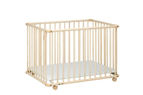 Geuther Geuther Belami Small Strips Playpen in Natural