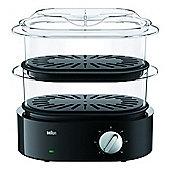 Braun FS5100BK Food Steamer, 850w, Black