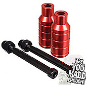 Madd Gear Extreme Scooter Stunt Pegs inc. Axle - Red