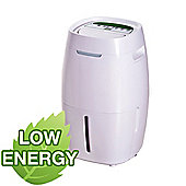 ElectriQ 16L Quiet Low Energy Digital Dehumidifier for flats and up to 4 beds homes