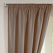 Rectella Sunset Mocha Thermal Backed Pencil Pleat Faux Silk Lined Curtains - 117x183cm