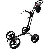 Golf Locker Qwik Fold Quad 4-Wheel Golf Trolley in Black