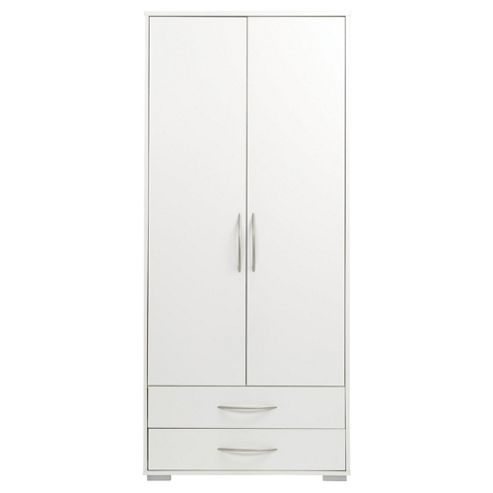 Newport 2 Door 2 Drawer Wardrobe White