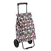 Typhoon Red Flower Retract Handle Trolley