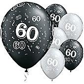 11' 60th Around Black & Silver (25pk)