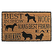 Mans Best Friend Dog Coir Door Mat, 45 x 75cm