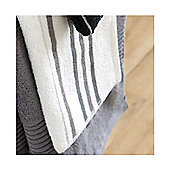 Catherine Lansfield Home java stripe bath towel, 70x120, Black & White