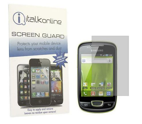 iTALKonline S-Protect Anti Glare Screen Protector and Cleaning Cloth Kit - For Samsung S5570 Galaxy Mini
