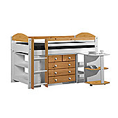 Maximus Mid Sleeper Set 1 White With Antique Details