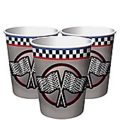 Racing Party Cups - 255ml Paper Party Cups