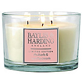 Baylis And Harding 3 Wick Candle, Rhubarb And Custard Cream